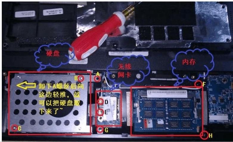 请问acer 4750g该怎么拆显示器